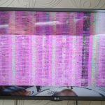 Полосы и негативное изображение в телевизоре LG 42LA644V, ремонт ТВ в Смоленске